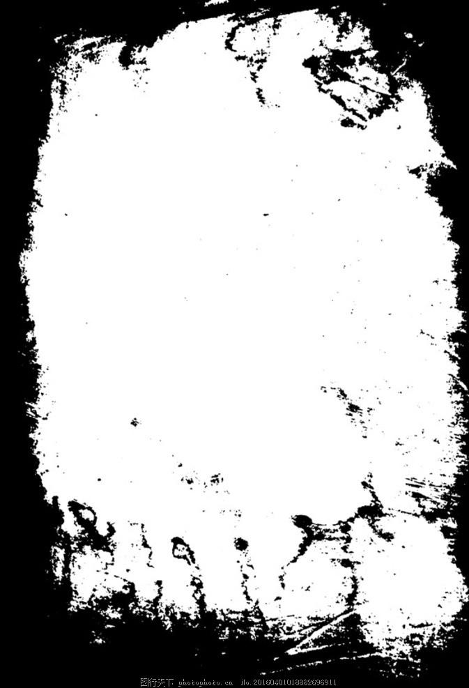中国风水墨风格相册边框 中国古风 古典 中式 中国 水墨 墨迹 墨圈 墨