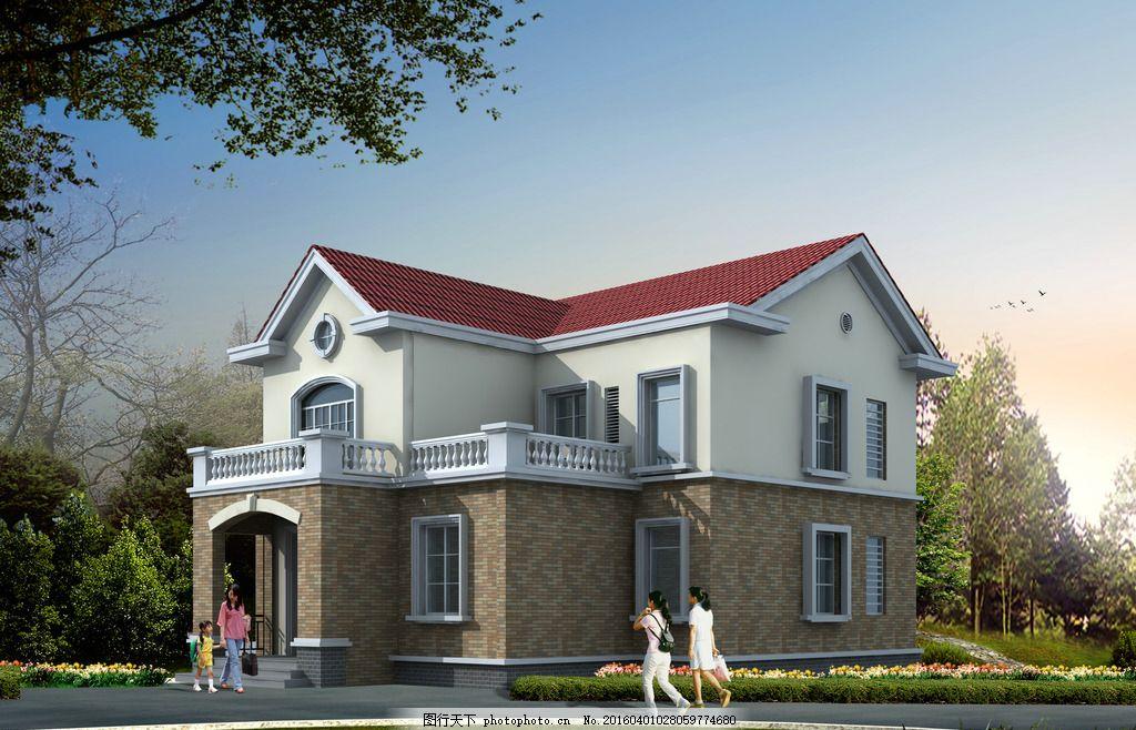 二层 别墅 农村 建筑 坡屋顶 设计 环境设计 建筑设计 72dpi jpg