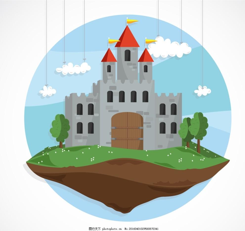 卡通城堡 卡通门楼 卡通门头 圣诞城堡 蓝色城堡 儿童城堡 幼儿园城堡