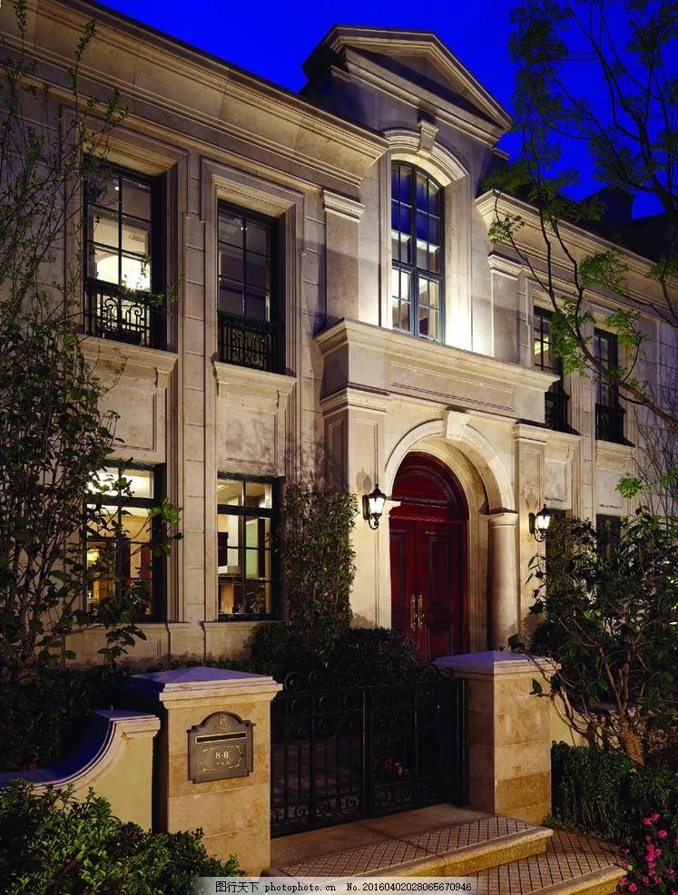 法式联排别墅 绿城 杭州 溪上玫瑰园 法式建筑 入户门 摄影 建筑园林图片