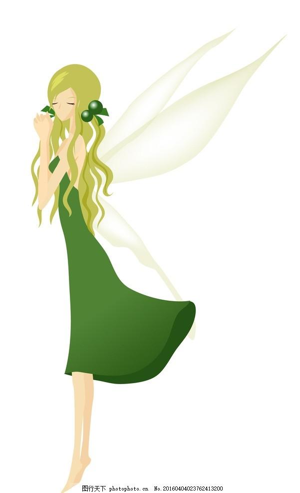 花仙子精灵美女 仙女 卡通人物 矢量人物 人物卡通 韩国矢量人物