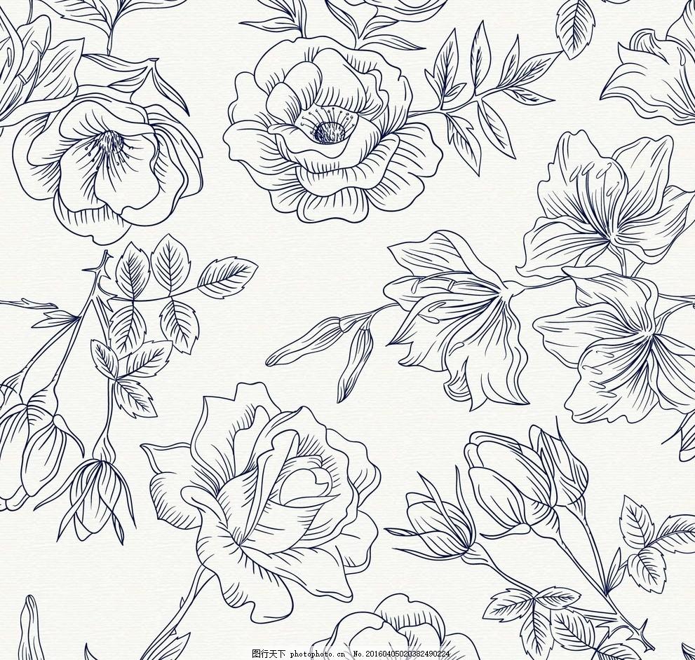春天花朵底纹 春天花边 婚礼花边 树叶 树叶底纹 树叶背景 婚礼边框