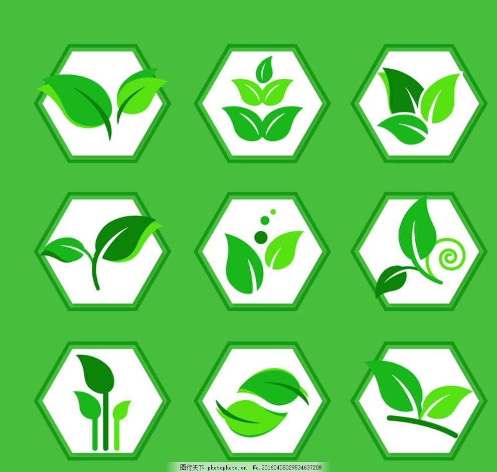 绿叶 矢量图 ai格式      设计 生物世界 树木树叶 平面素材 设计图片