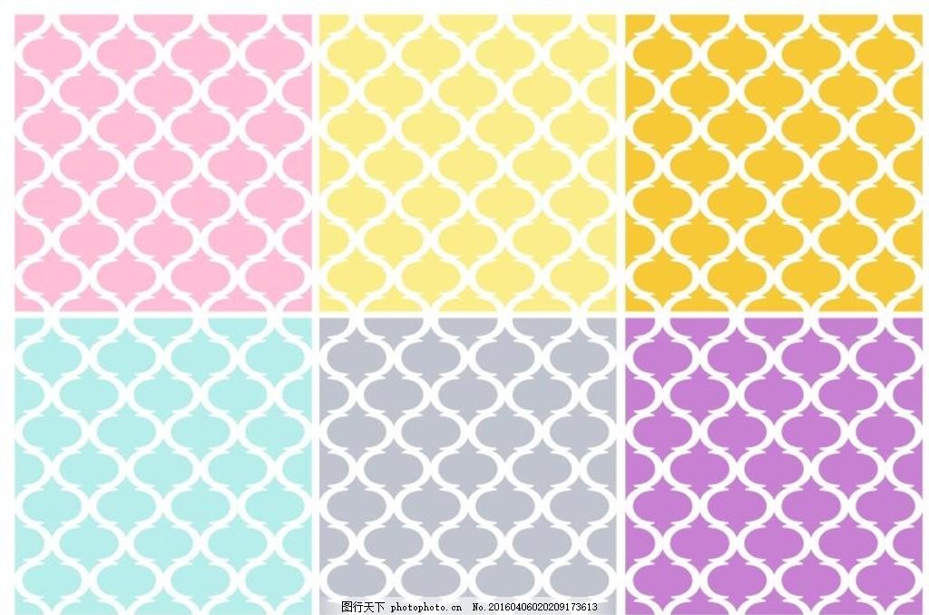 连续纹样底纹 四方连续 数码图案 背景 布料印花 花型 纹理 抽象