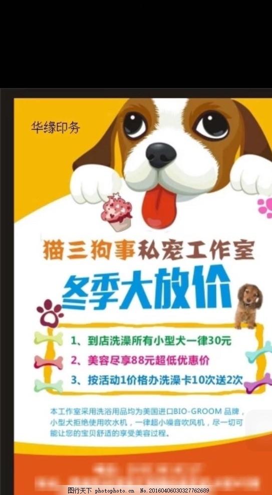 狗 猫 宠物 宣传单 骨头 设计 广告设计 dm宣传单 cdr