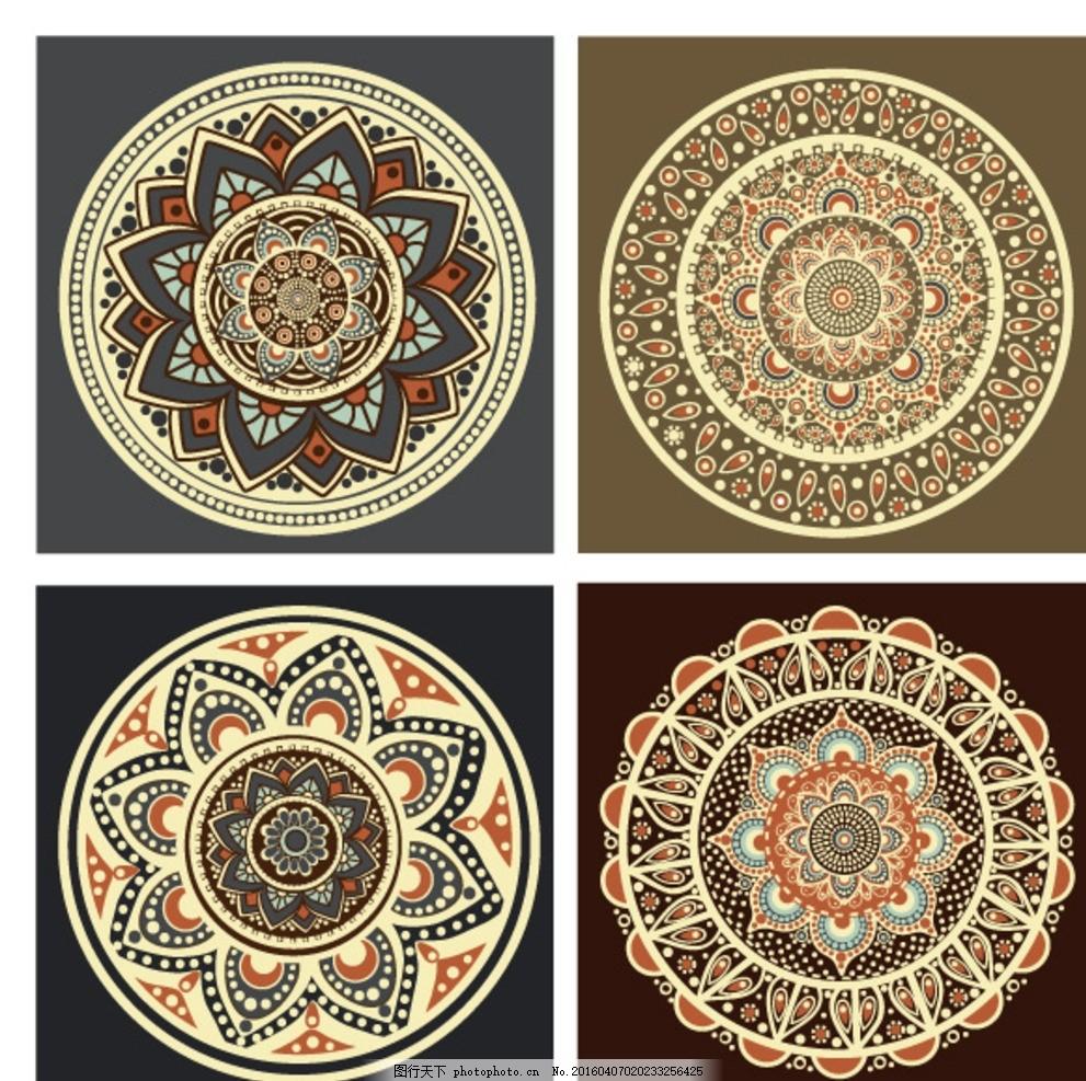 古典复古 圆形花纹背景 欧式花纹 圆环 边框 花边 传统花纹 古典花纹