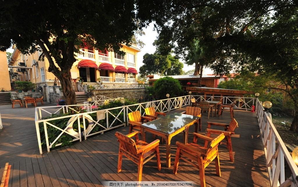 休闲场地 室外咖啡 咖啡厅 风景 鼓浪屿 摄影 建筑园林 园林建筑 300