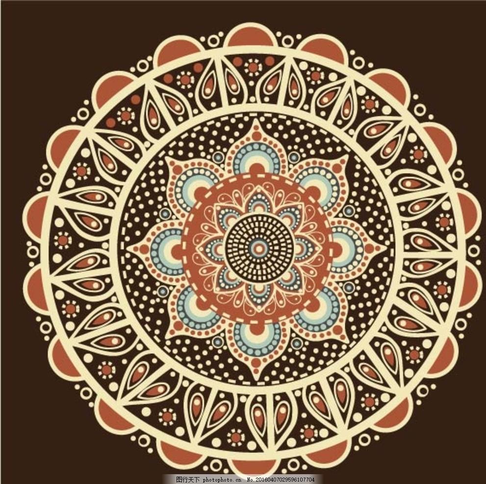 欧式花纹 圆环边框 传统花纹 古典花纹 复古花纹 装饰花纹 圆形花纹