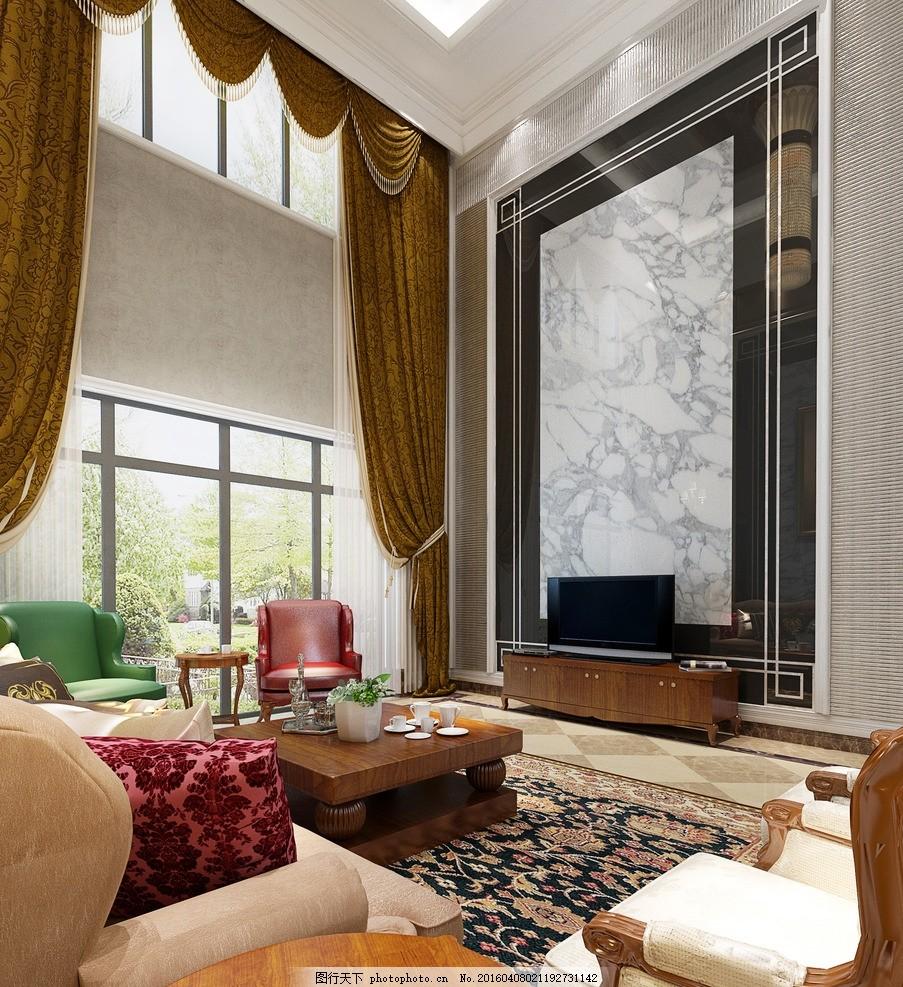 客厅 别墅 室内 装饰 装修 欧式别墅