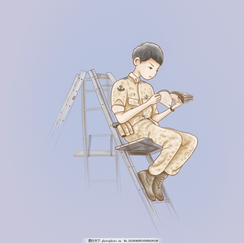 太阳的后裔 宋仲基 宋慧乔 金智媛 晋久 太阳的后裔手绘动漫 设计