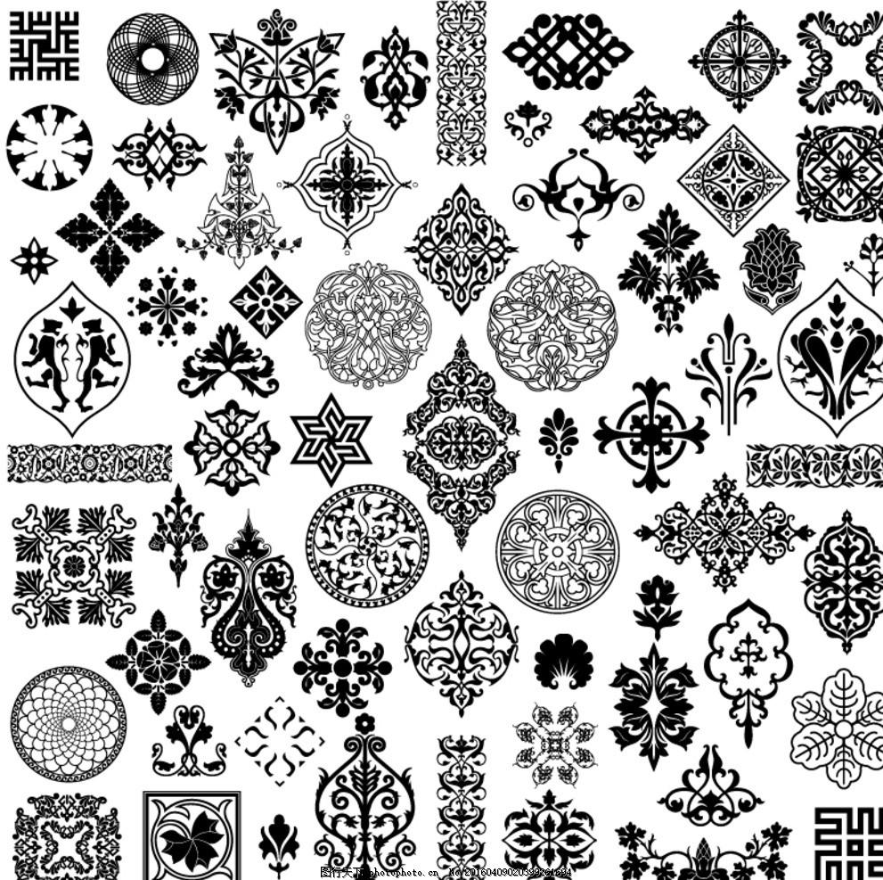 精美古典传统花纹 适合纹样 纹样 花纹 花 花朵 连续图案 设计 底纹