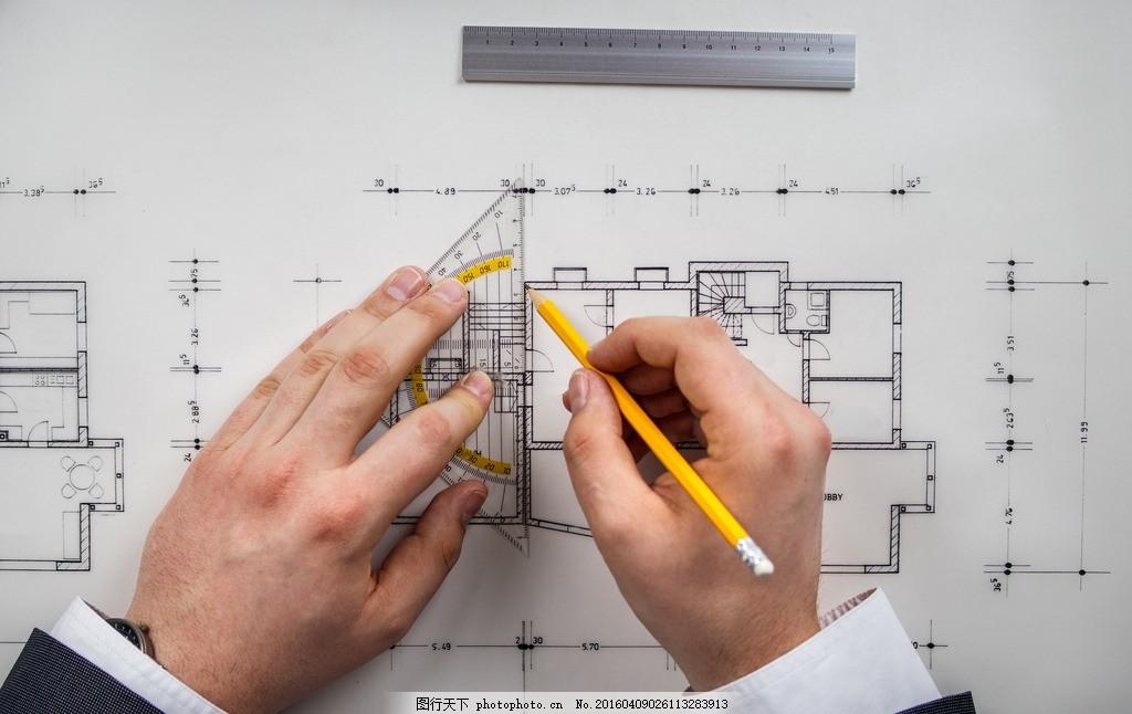 设计师 看图纸 男设计 室内设计 室内 家装 家居 施工图纸 设计方案