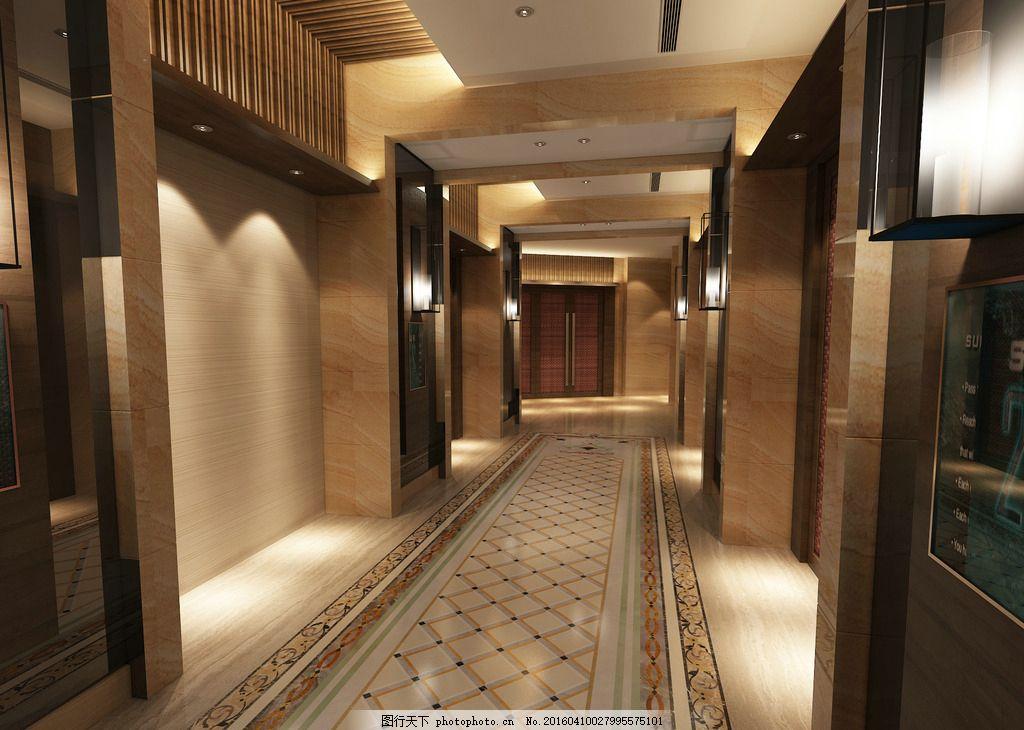 室内效果图 高清 设计 环境设计 地面拼花 300dpi 大理石 过道 设计