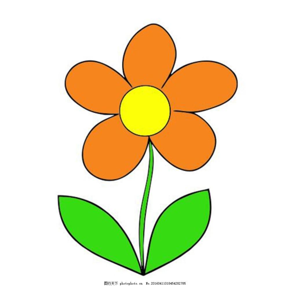 矢量花朵 花朵 卡通 幼儿园 小花苗 植物 cdr 设计 动漫动画 风景漫画