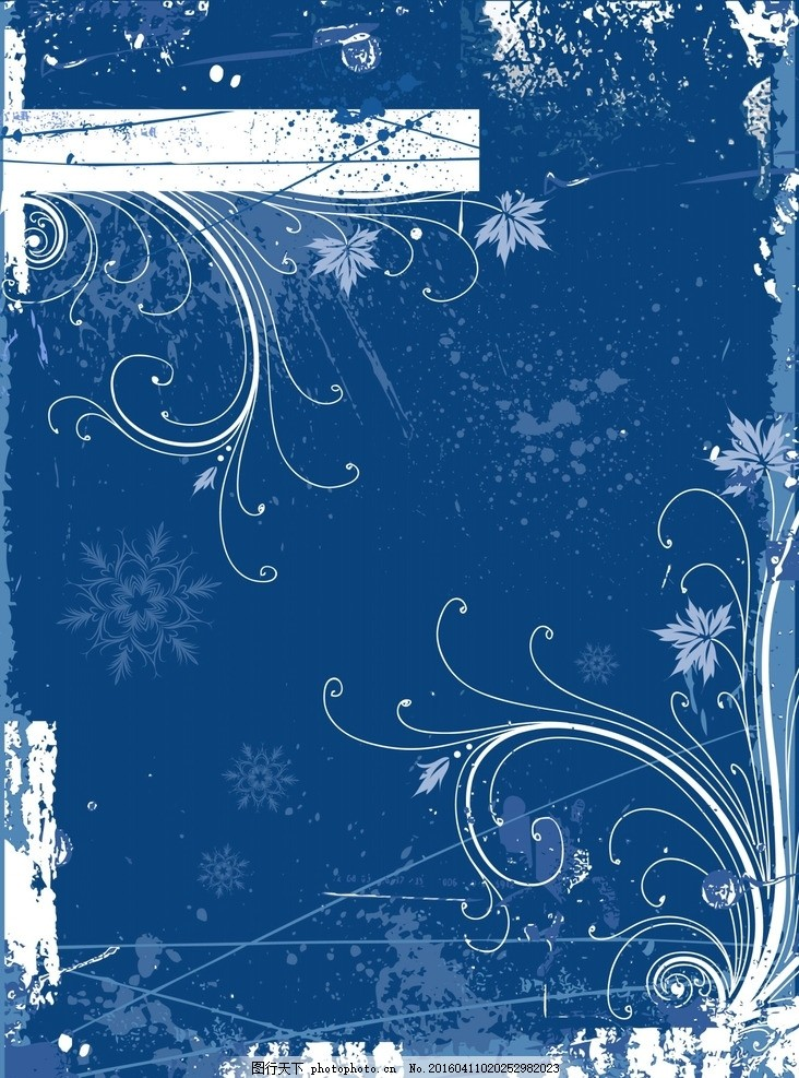 蓝色唯美花草生长花纹素材 浪漫 欧式 线条 背景 绚丽 炫酷 爱情