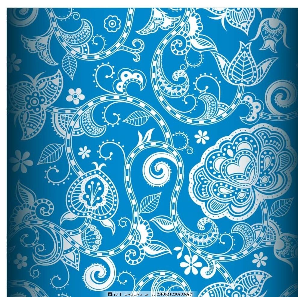 欧式花纹 四方连续 布纹 日式 花纹花边 平铺 日式花纹 日本传统花纹