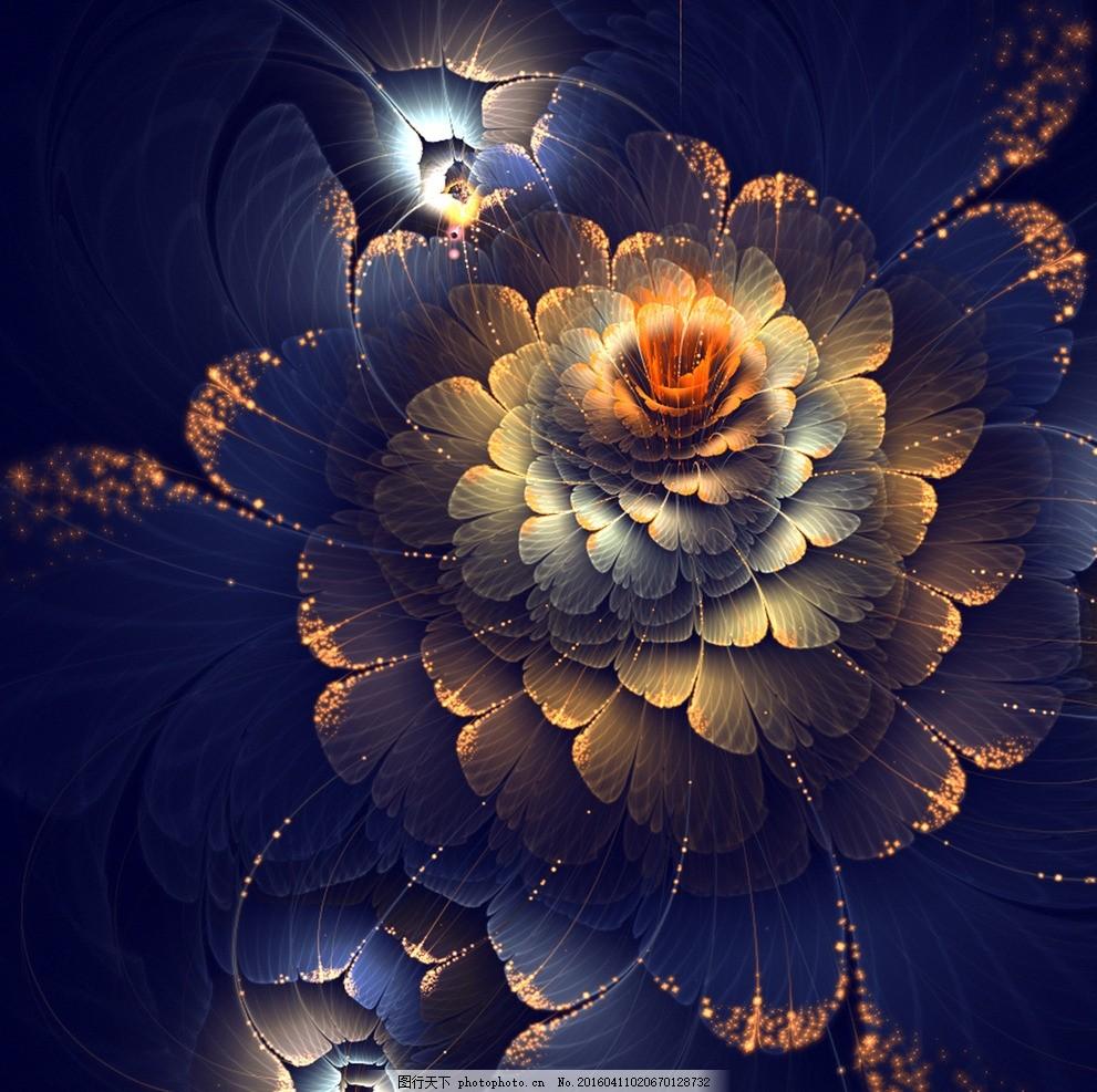花朵装饰画 设计 素材 创意 分形 艺术 抽象 花朵 装饰画 设计 底纹