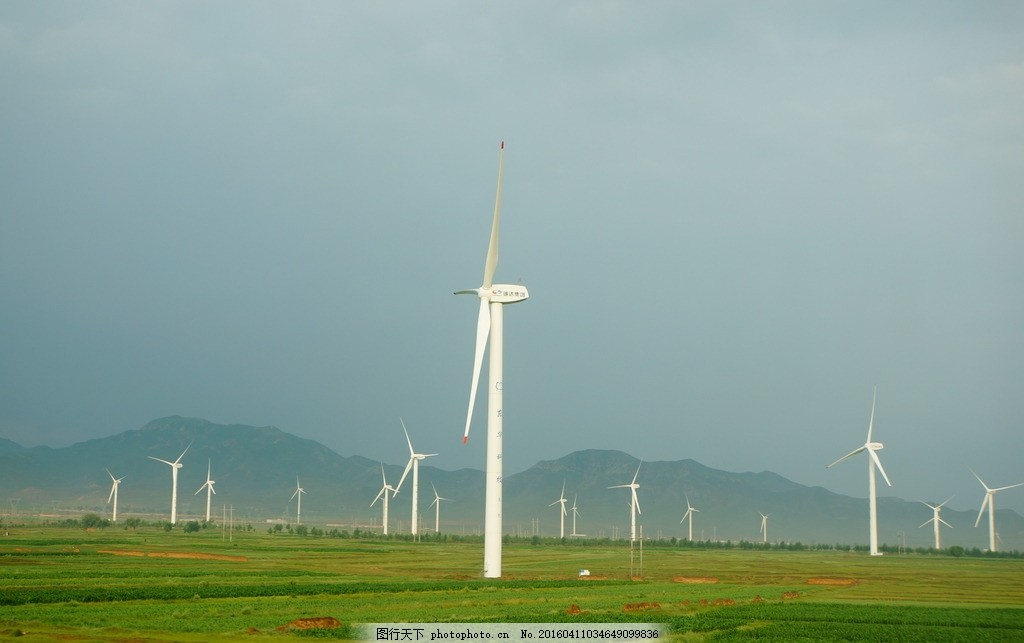风车 风力发电机 大风车 风车田 五台山之旅 摄影图片