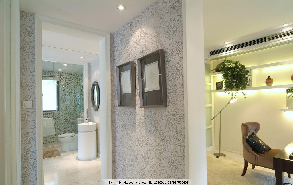 装修效果图 室内装修效果 廊道洗手间 欧式装修 墙砖效果图 客厅背景