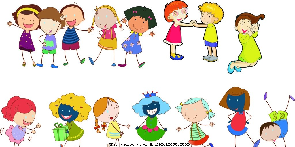 幼儿园插图 设计 矢量 卡通 儿童 卡通人物 天使 幼稚 人物 幼儿 小孩