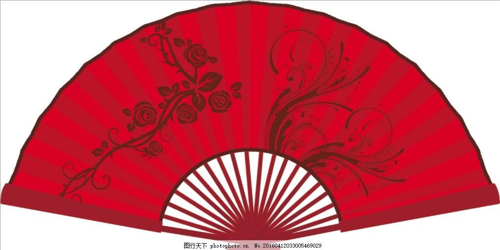 扇形 扇子 中国风 红色主题 古典 设计 psd分层素材 psd分层素材 150
