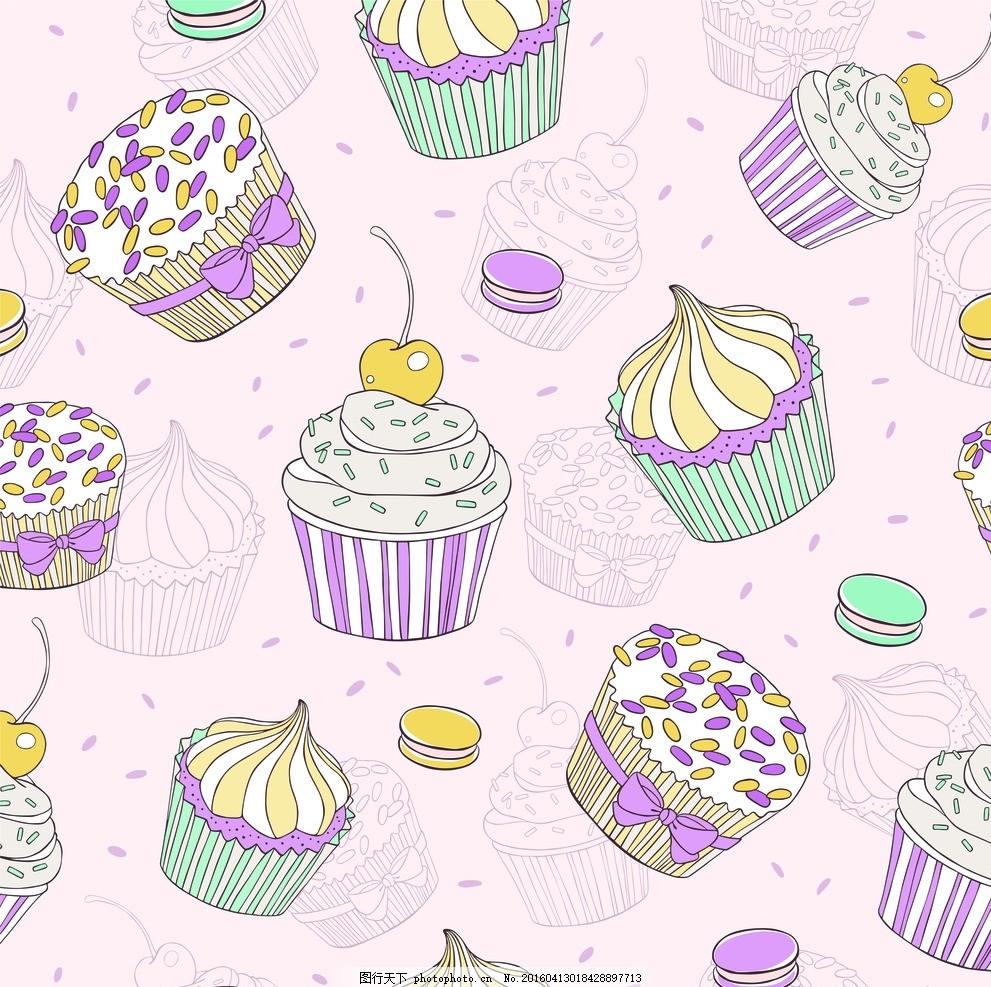 卡通画蛋糕 蛋糕 卡通画 漫画 手绘 素描 食物 甜点 设计之家 设计
