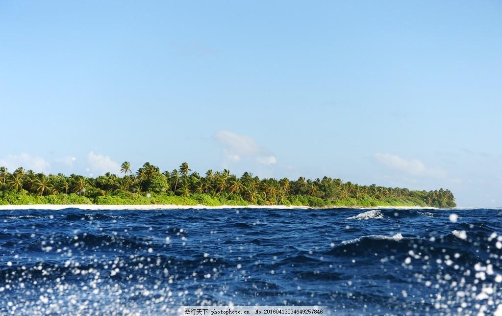 馬爾代夫 碧海藍天 大海 藍天白云 度假 碧藍海水 馬爾達夫度假 沙灘