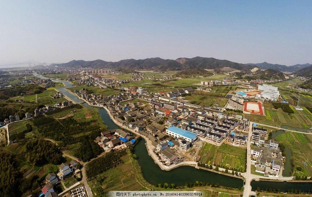设计图库 自然景观 旅游摄影  浙江 舟山 金塘岛 俯瞰 内河 河面 桥梁