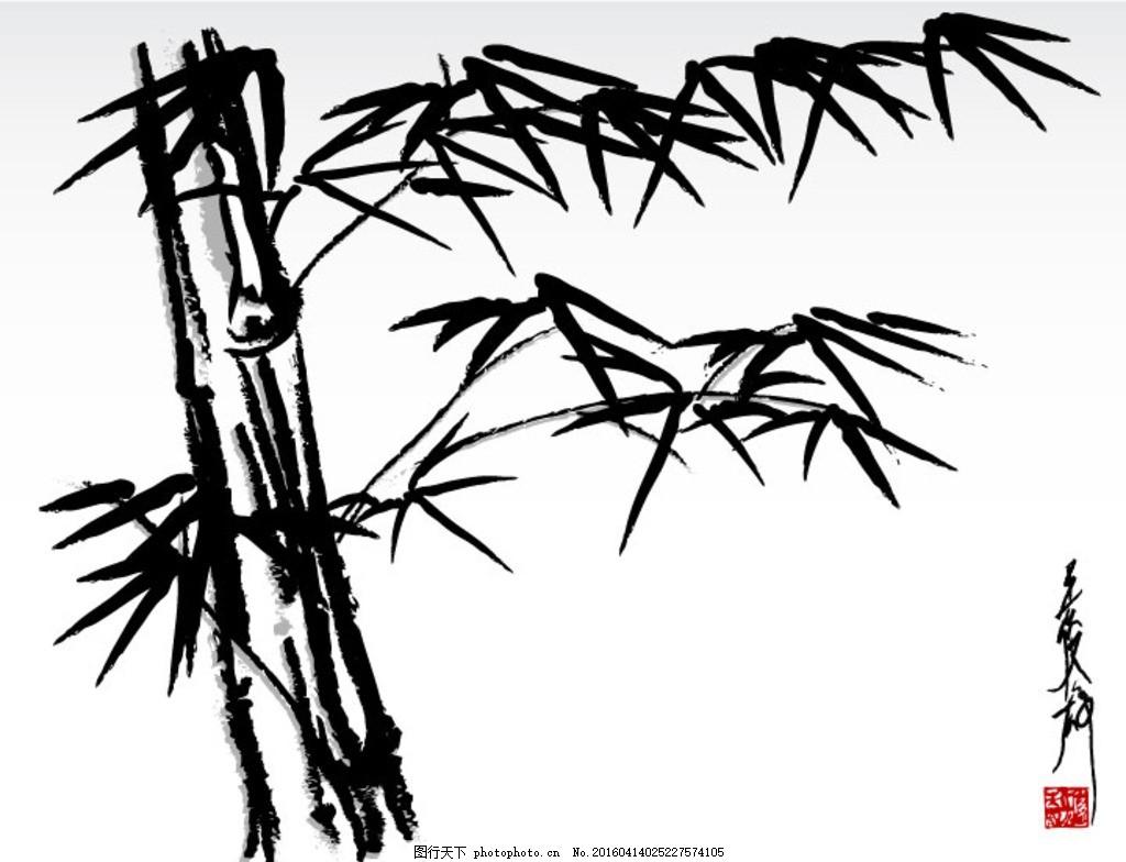 竹子 竹林 国画 竹 叶子 竹叶 树木 植物 剪影 竹子剪影 树木树叶