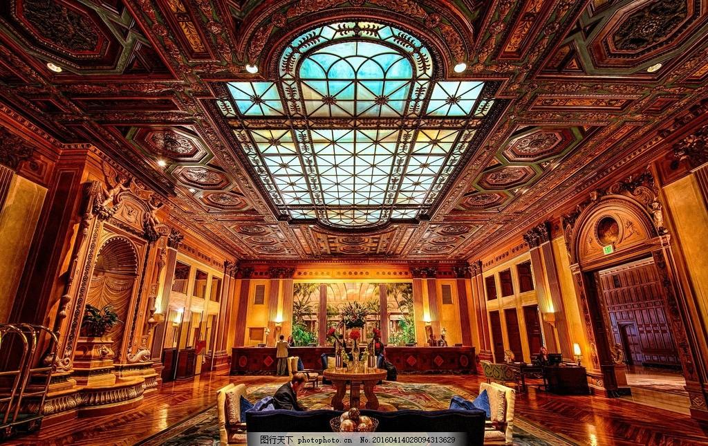 欧式古典室内建筑 富丽堂皇 金碧辉煌 摄影 建筑园林 建筑摄影