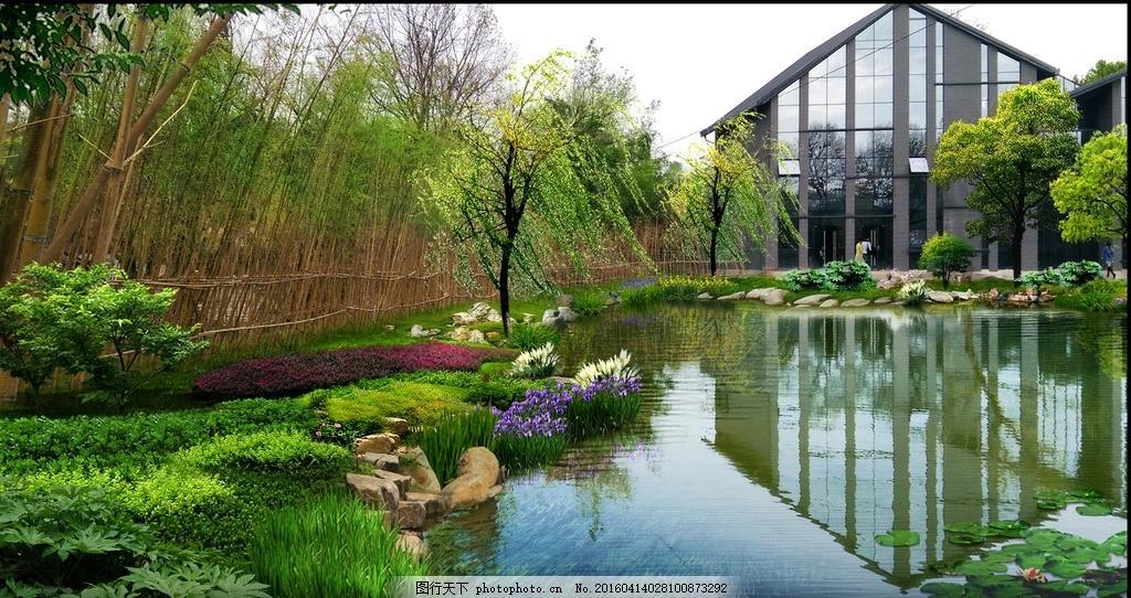驳岸处理 驳岸 设计 植物配置 景观效果 湖岸 设计 环境设计 景观设计