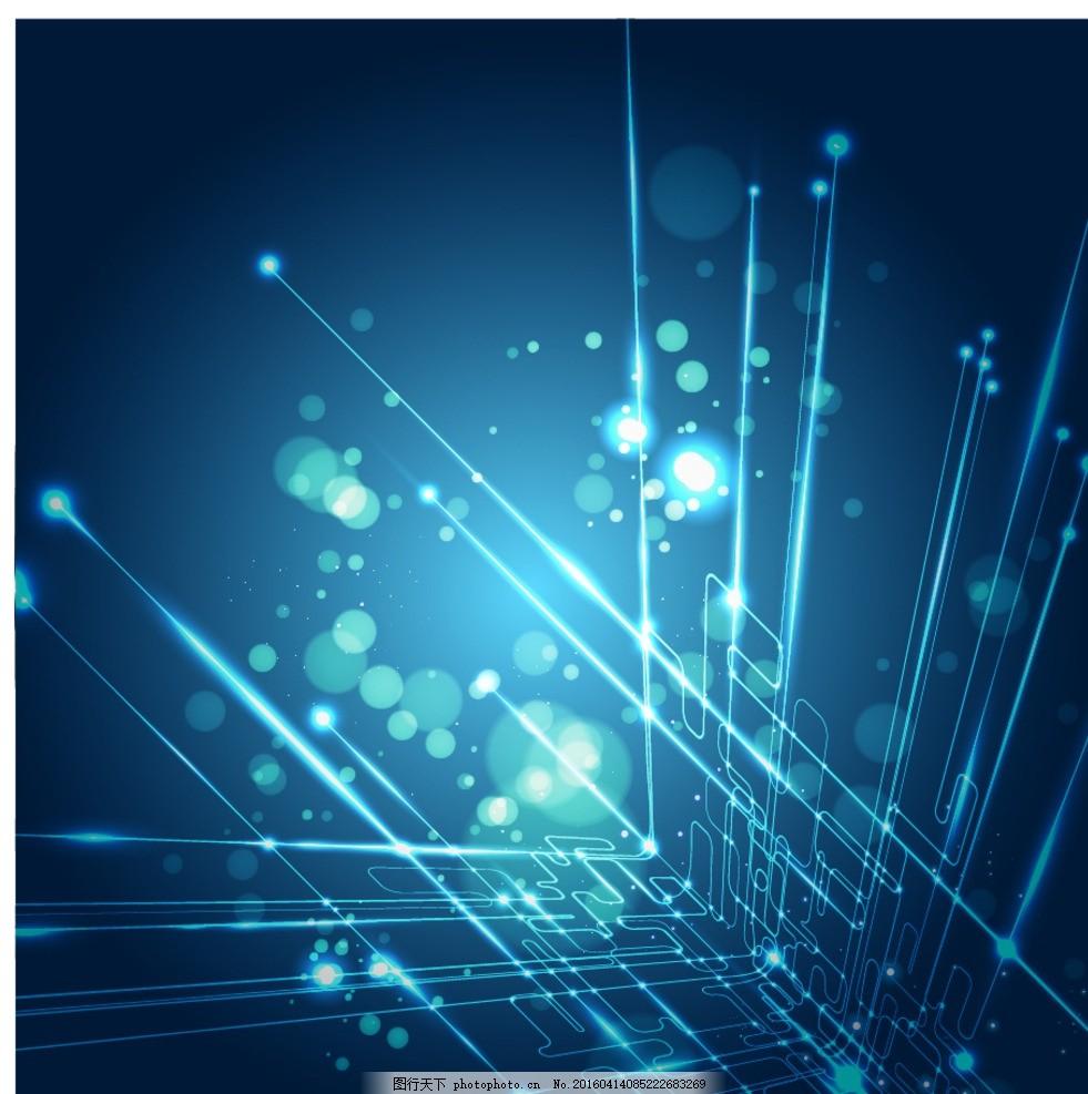 设计图库 海报设计 节日海报  深科技炫彩蓝 电路图 三维 科技背景 科