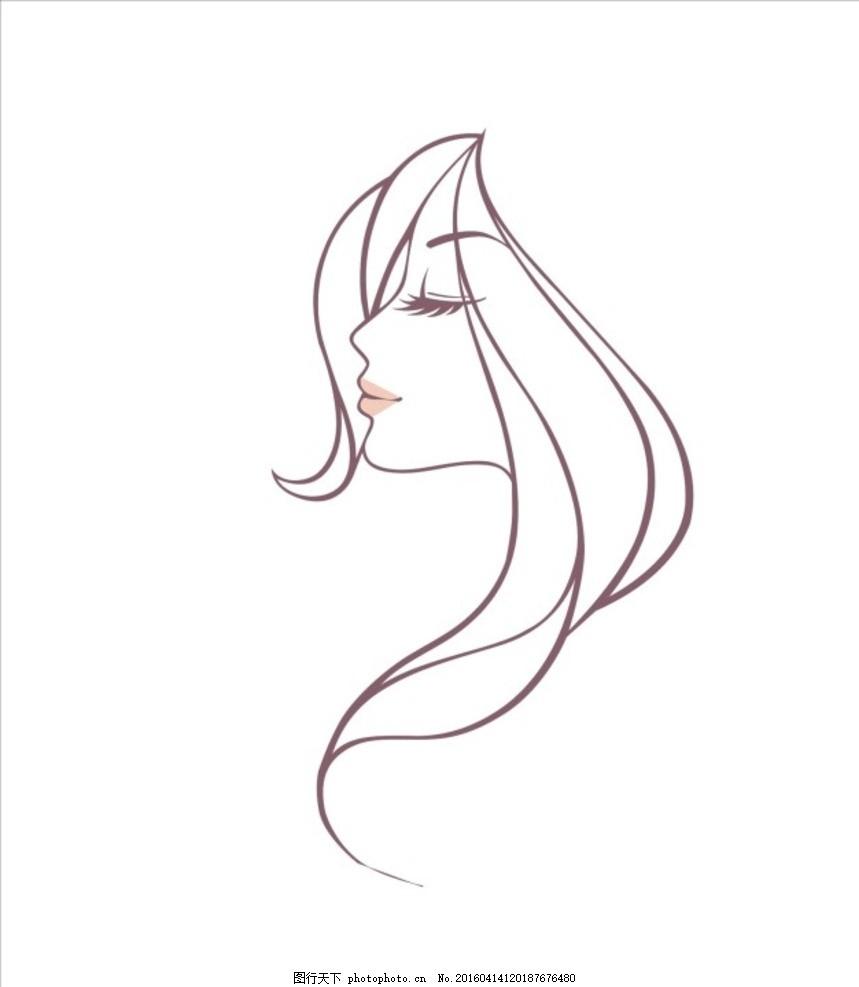 长发飘逸 美女手绘 动漫美女 美女 艺术类 设计 动漫动画 动漫人物