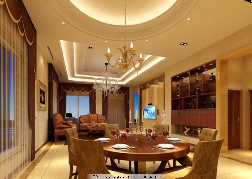 别墅客厅 电视背景 电视背景墙 豪华客厅 家装模型 客厅模型 欧式装修