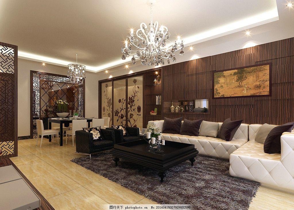 客厅,陶瓷 瓷砖 薄板 灯光 高清效果图艺术-图行天下