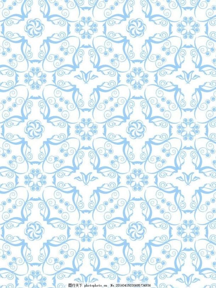 青花瓷 青色花纹 边框底纹 边纹 淡色 淡雅背景 底纹 底纹背景 古典