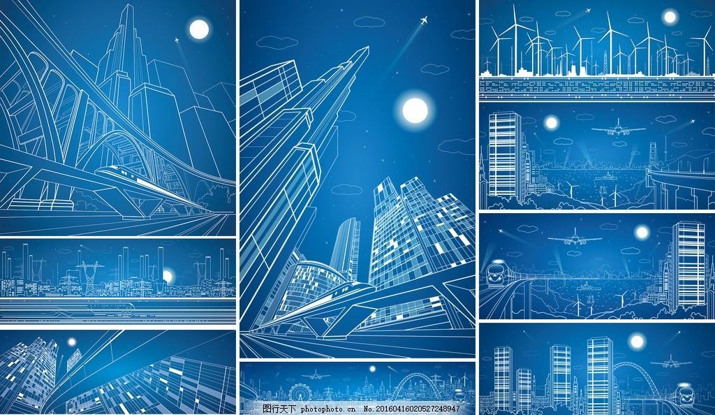 城市建筑铅笔稿