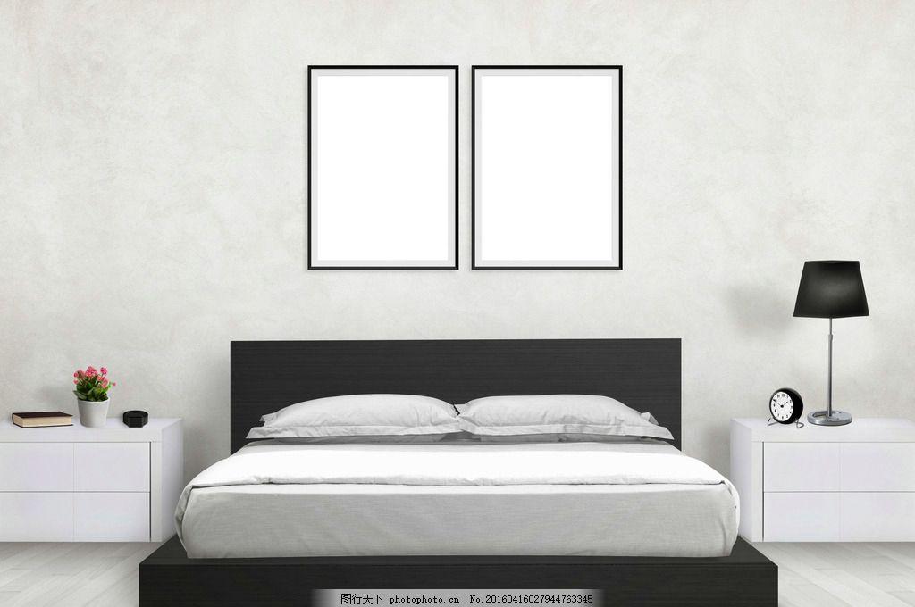 唯美卧室 生活 家具 家居 大床 简洁 简约 欧式 木地板 白色系