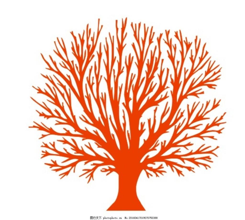 动画树 剪贴画树 动漫树 剪贴画树 树 单色树 大树 设计 文化艺术