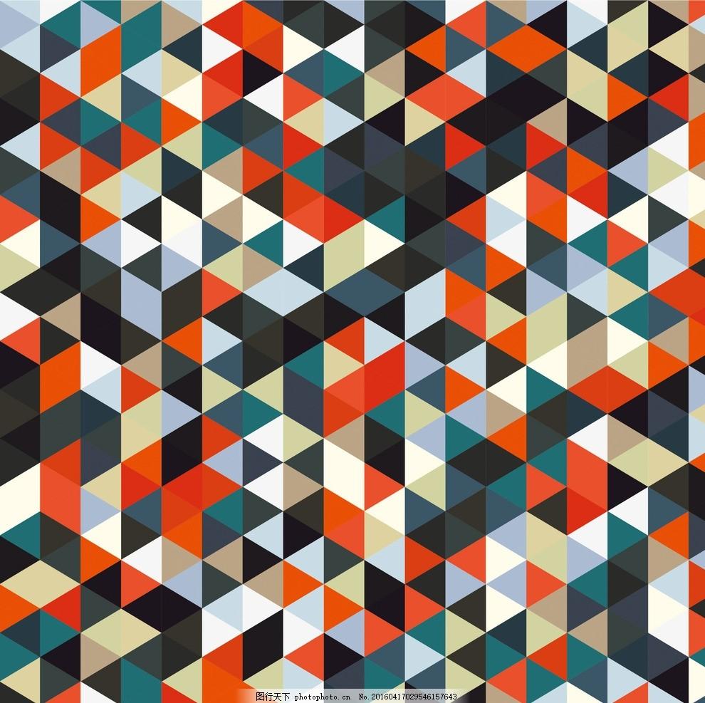 马赛克拼贴 几何拼贴背景 马赛克 拼结 拼贴 方块 方格 格子 马赛克