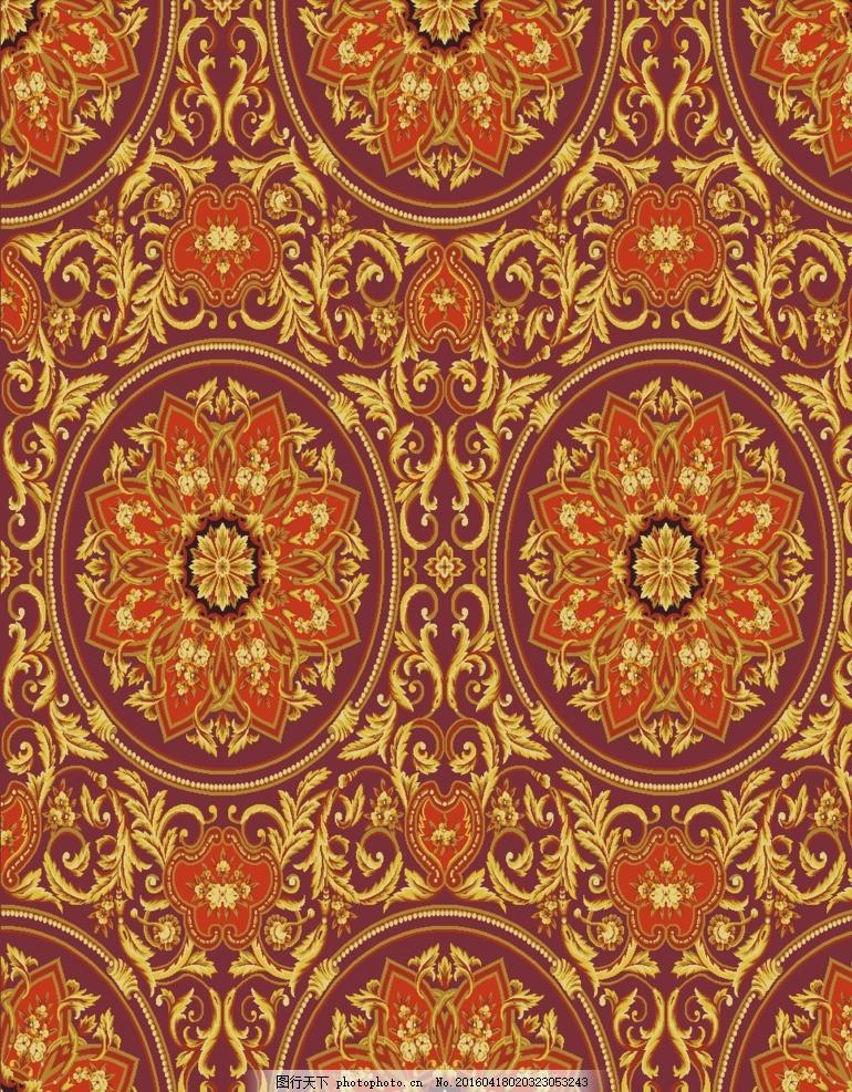 欧式花纹 欧式团花 凤尾花 传统花纹 欧式凤尾花 设计 底纹边框 花边