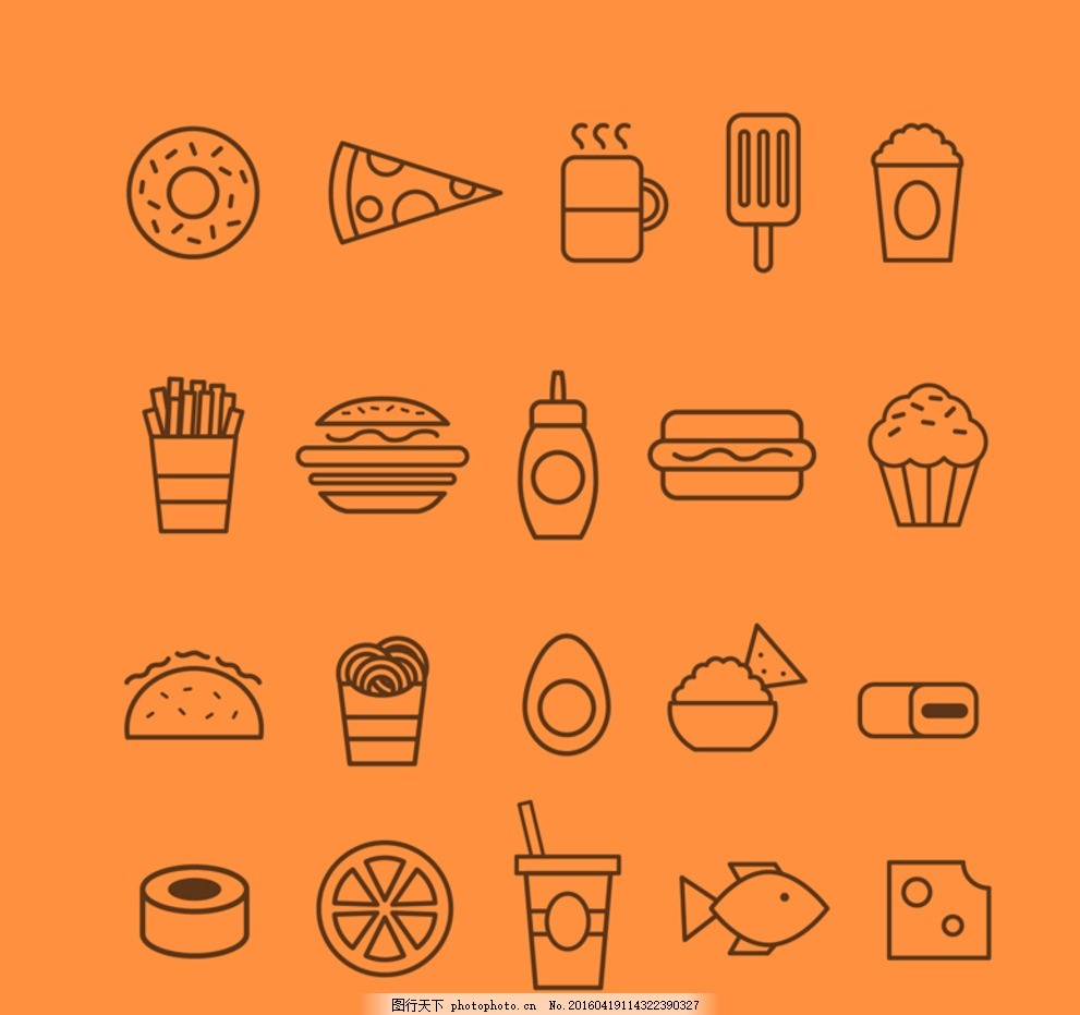 创意食物图标图片