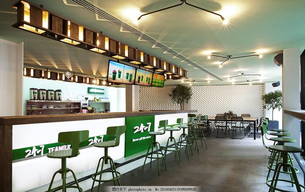 奶茶店内部装修图 效果图 奶茶店铺 生活百科 餐饮美食