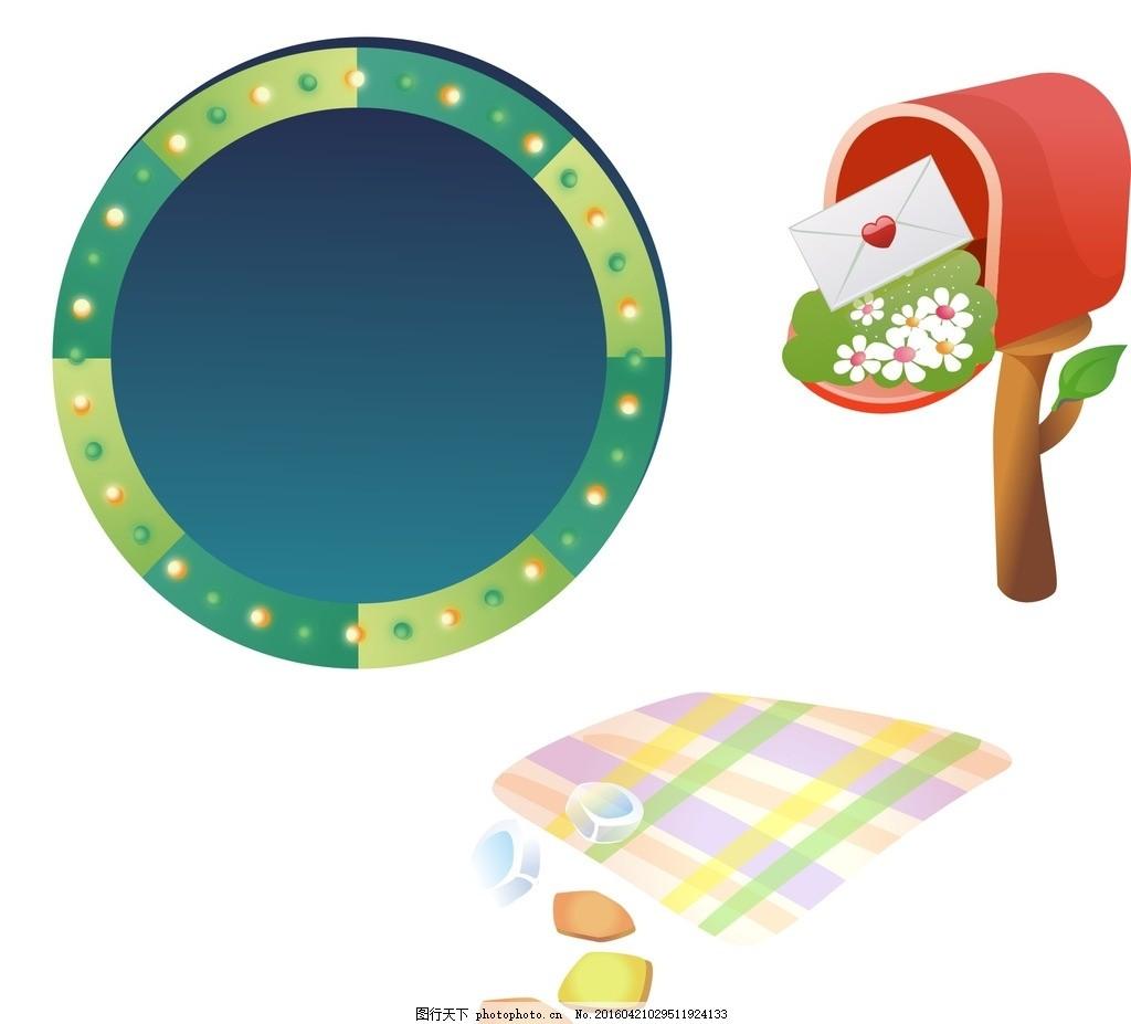 卡通转盘 邮箱 卡通素材 可爱 素材 手绘素材 儿童素材 幼儿园素材