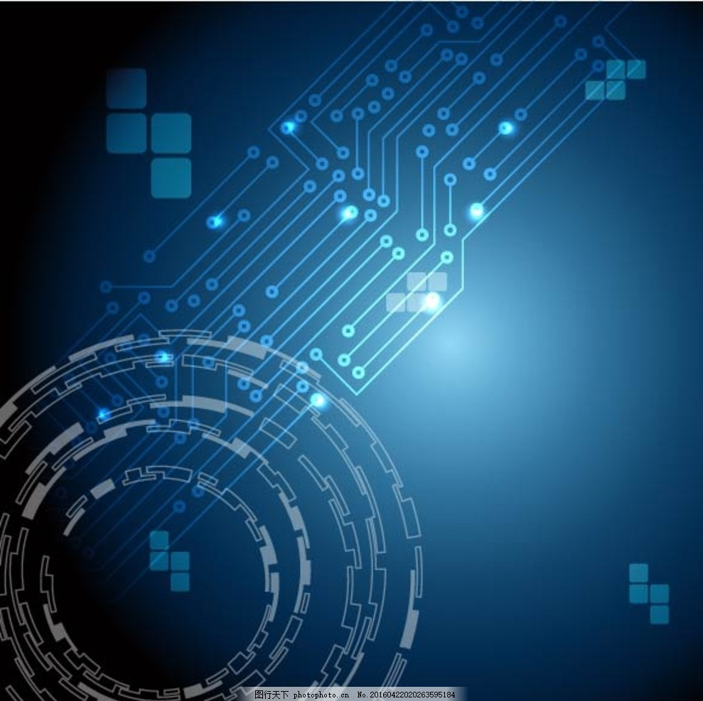 工业 齿轮 自动化 机械臂 工业机器人 蓝色展板 蓝色底图 蓝色背景