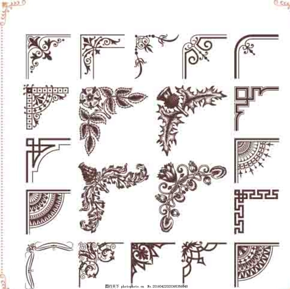 剪纸角花步骤图教程