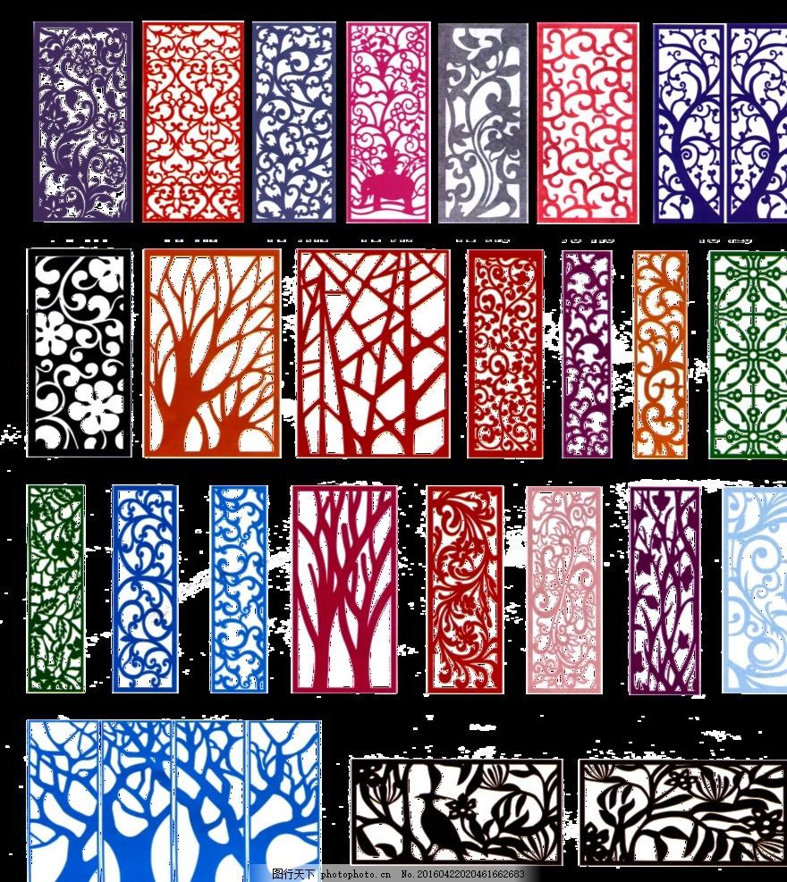 镂空图案 矢量图 欧式风格窗花 仿古窗花 窗花 镂空树 屏风 设计 底纹