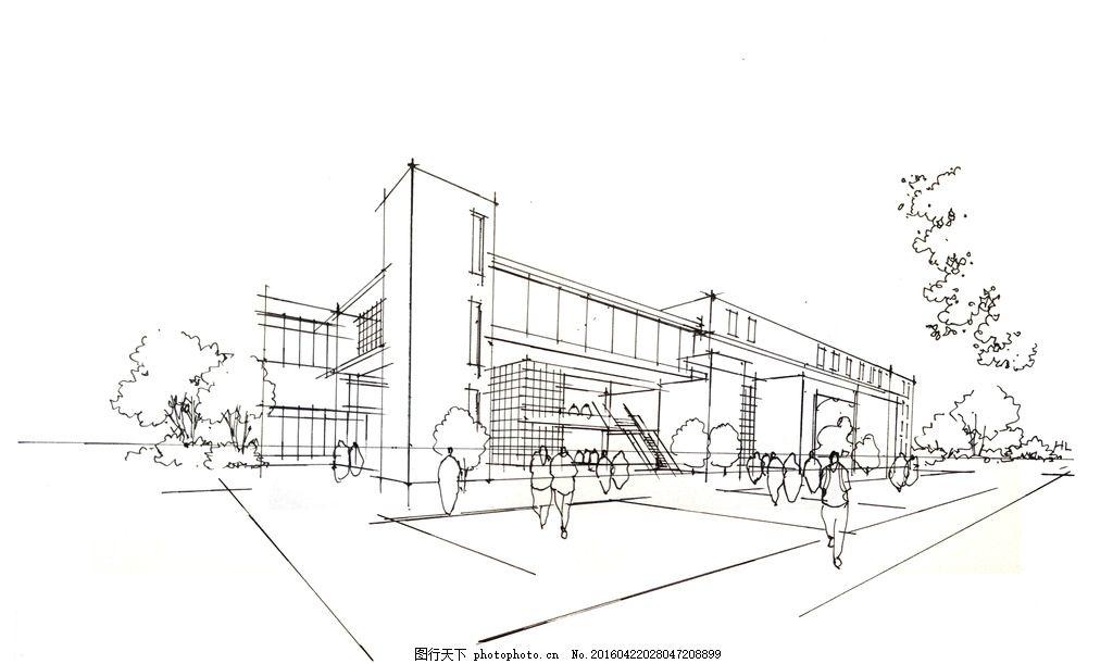 景观建筑手绘 景观 建筑 手绘 素材 透视 设计 环境设计 建筑设计 28