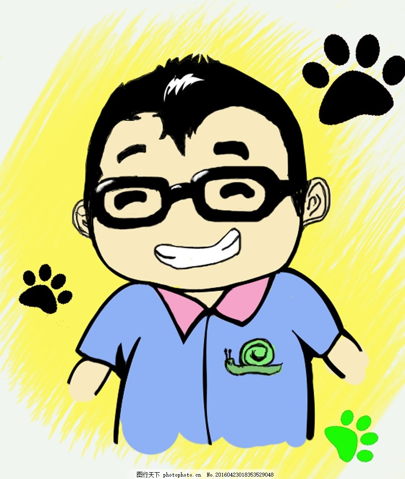 蜗牛卡通人物胖子头像 蜗牛 胖子      熊 掌 设计 动漫动画 动漫人物