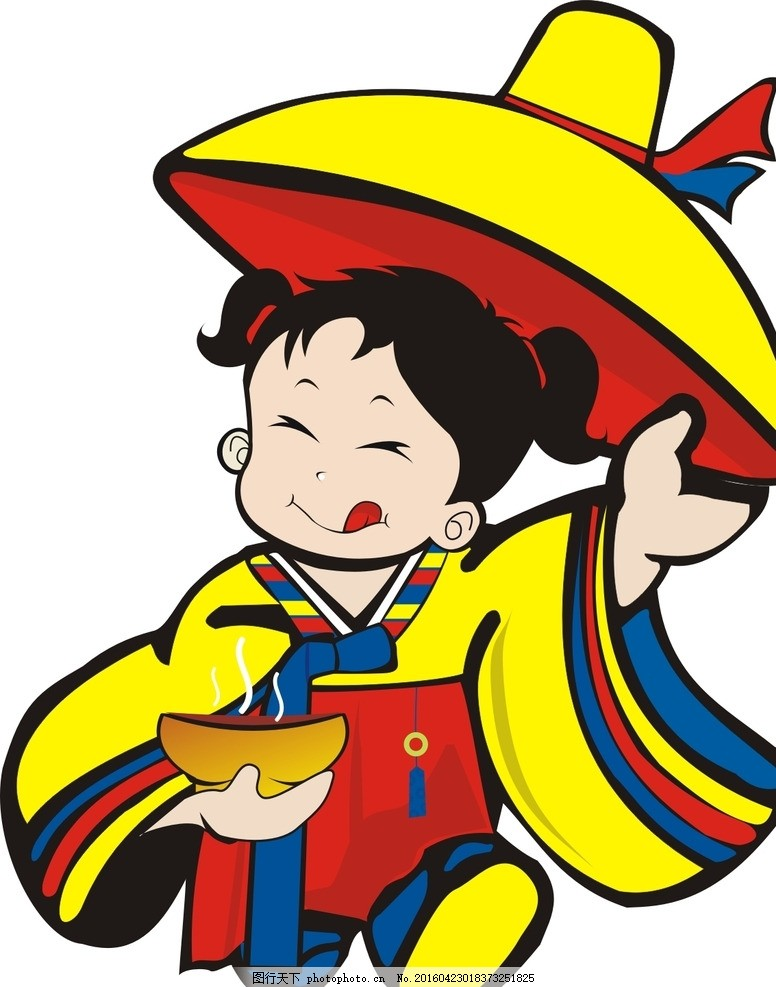 韩国卡通 韩国小孩 韩国女孩 韩国饭店 韩国风 包装设计 设计 动漫